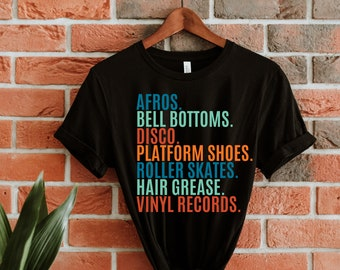The 70s AFROS t-shirt / i love the 70s tees / retro t-shirts / retro tees / old school tees / 70s gifts / old school gifts / graphic tees