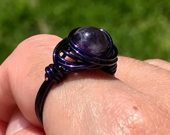 amethyst clump ring