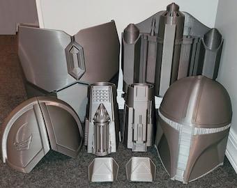 The Mandalorian Beskar Armor Upper Body Bundle Set - Jetpack and Helmet Optional - Din Djarin Season 2 Wearable Cosplay
