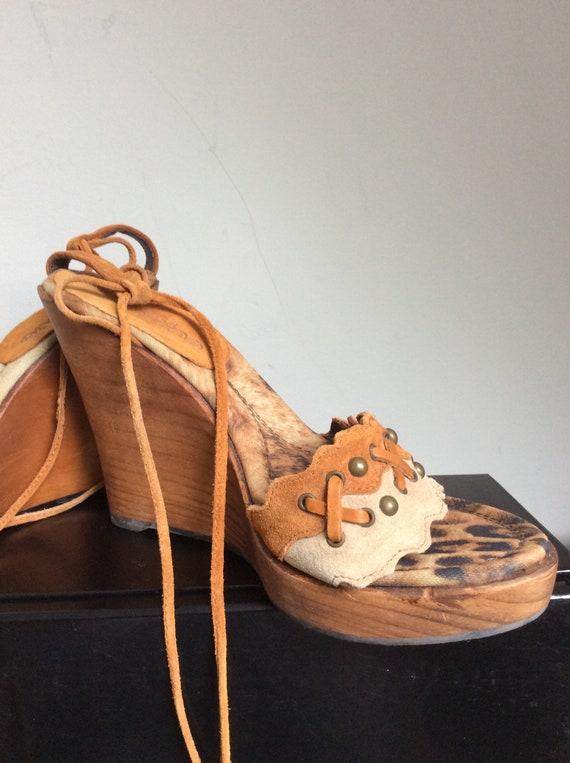 El Dantes Vintage Platform Sandals