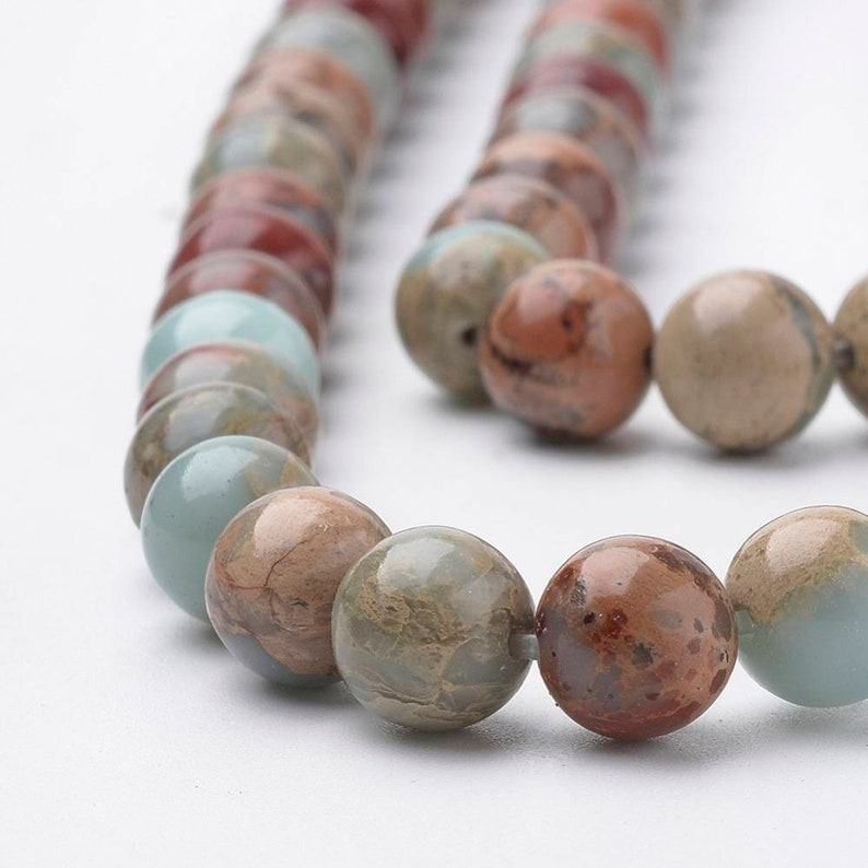 Pearl jaspe natural 8mm or 6mm.
