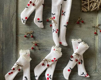 Socks ,stockings , tights for Blythe . Socks with cherry