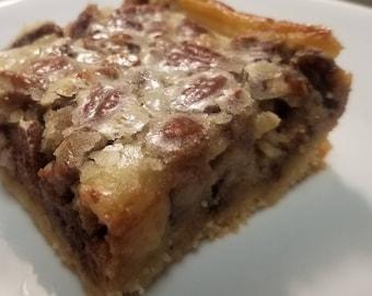 Keto Pecan Pie Bars, Low Carb, Gluten Free