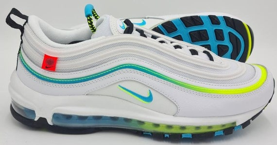 Nike Air Max 97 Worldwide Trainers CZ5607-100 White/Blue   Etsy