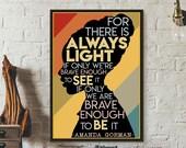 Amanda Gorman Poster, For There Is Always Light Art Print, Inauguration Poem 2021, Inspirational Wall Art, Feminist Poster, Best Gift Ever