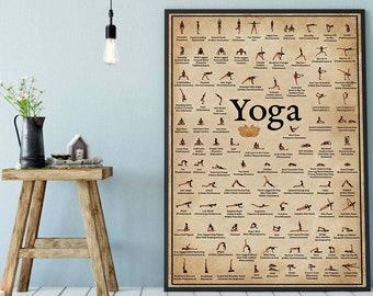 Yoga Poster Etsy
