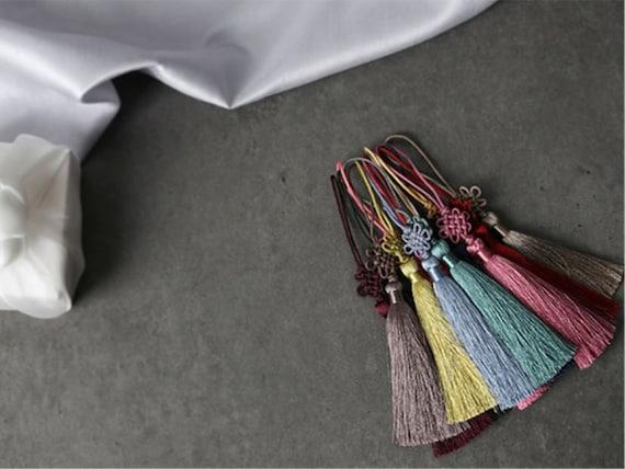 Korean 100 Days Doljanchi Colorful Yarn Tassel Norigae Gift Wrapping Decoration Hanbok Accessory Doljabi First Birthday Party