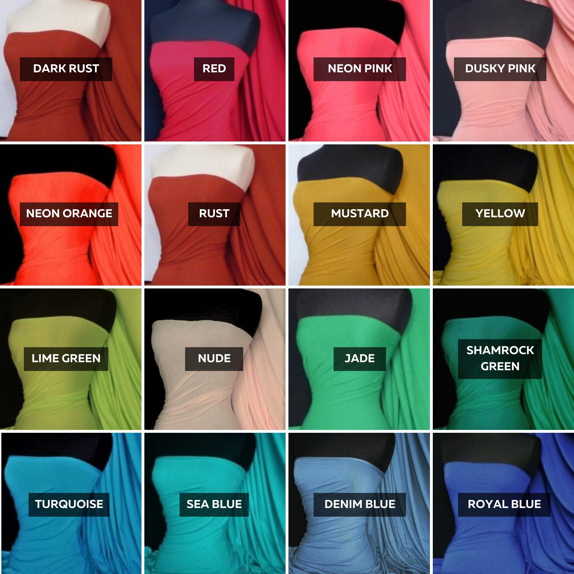 Plain Colours - Viscose Rayon Elastene - Viscose