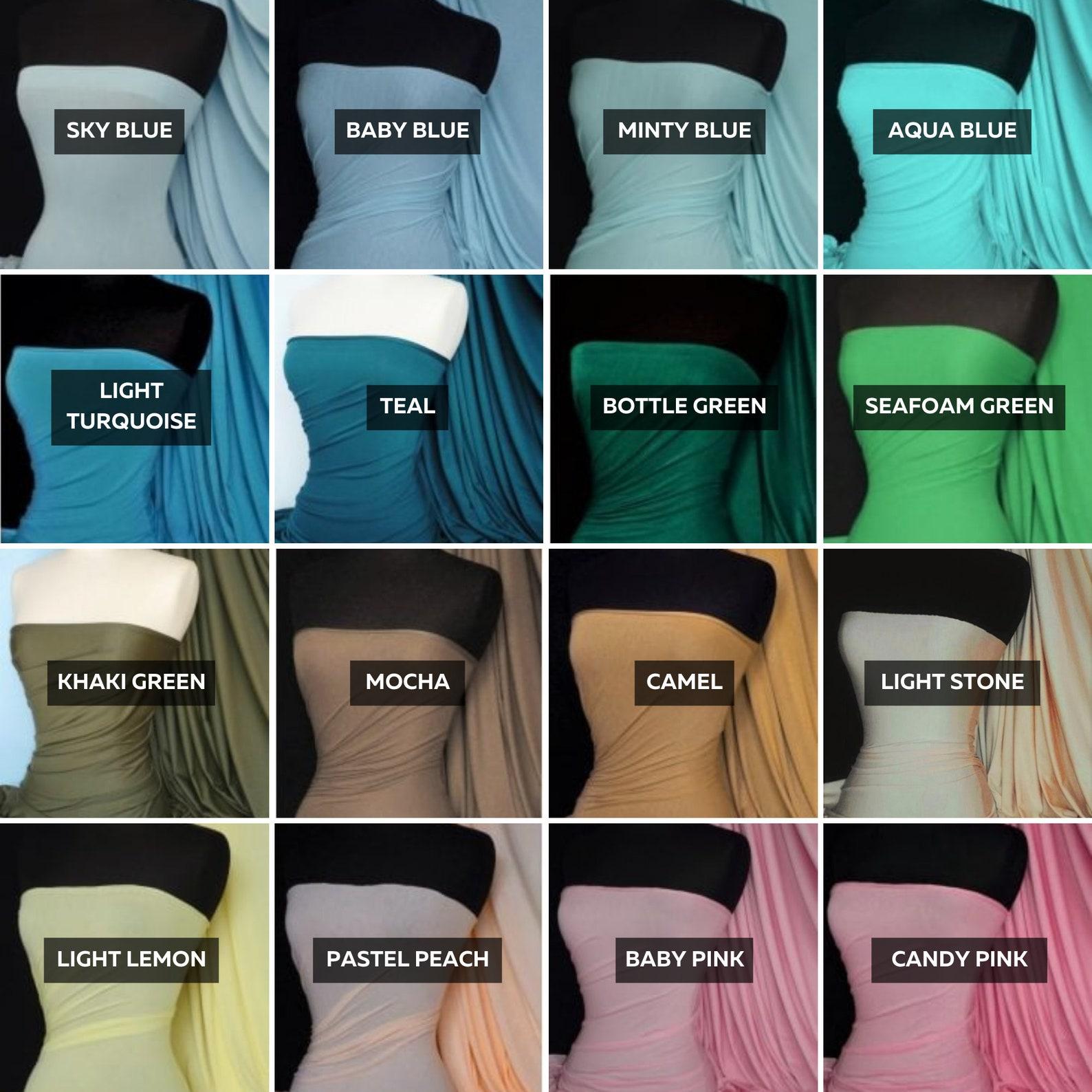 Plain Viscose & Lycra Stretch Jersey Knit Dress Fabric (MF