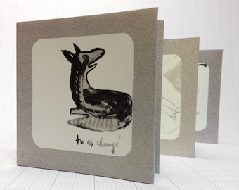Tu as changé - handmade screenprinted artist's book, silkscreen, ink drawing, concertina book, fine art, limited edition, collector's item