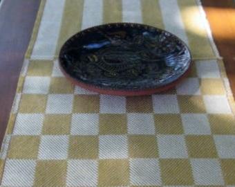 Block Twill Table Runner - Checkerboard