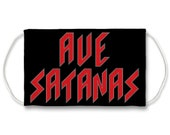 Ave Satanas Sublimation Face Mask