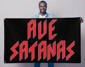 Ave Satanas Sublimation Flag