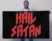 Hail Satan Sublimation Flag