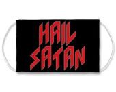 Hail Satan Sublimation Face Mask