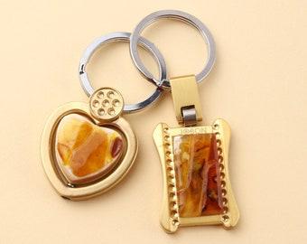Amazing raw Baltic amber key chain,amber souvenirs,amber keychain,amber gift,gift for a new home,natural amber piece