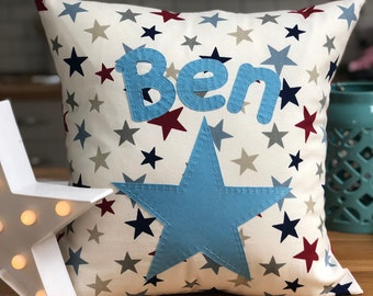 Blue star pillow | Etsy