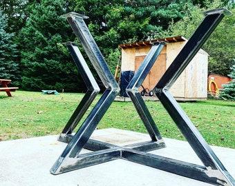 Hour Glass - Metal Table Base