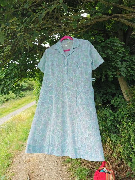 70s paisley green dress, vintage 70s dress, 70s m… - image 7