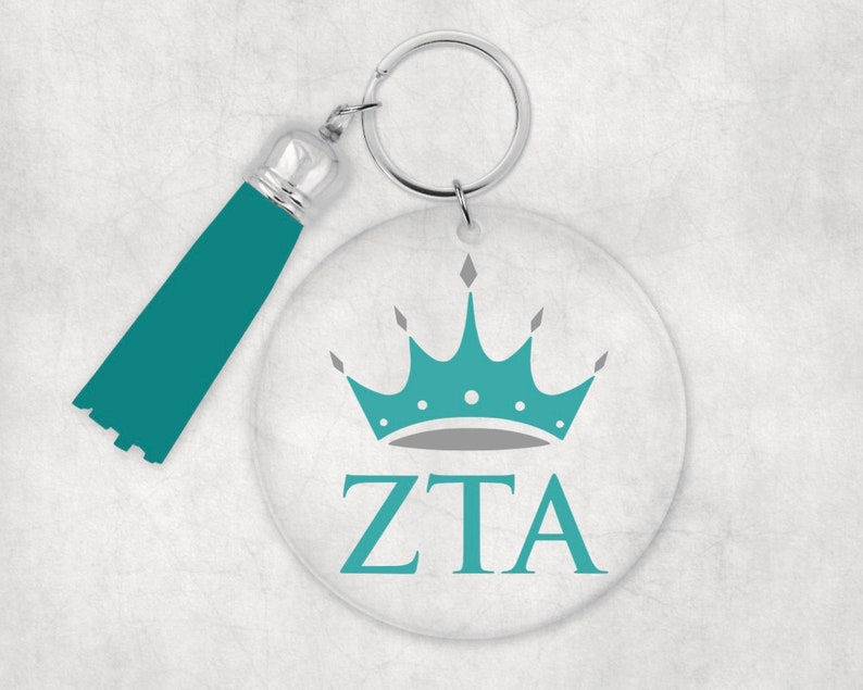 Zeta Tau Alpha Acrylic Keychain Big Little Gift Sorority Gift Zeta Tau Alpha Keychain Sorority Keychain Keychain