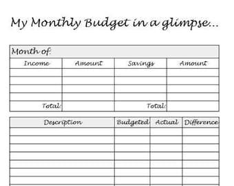 BUNDLE* Monthly Budget + Bills