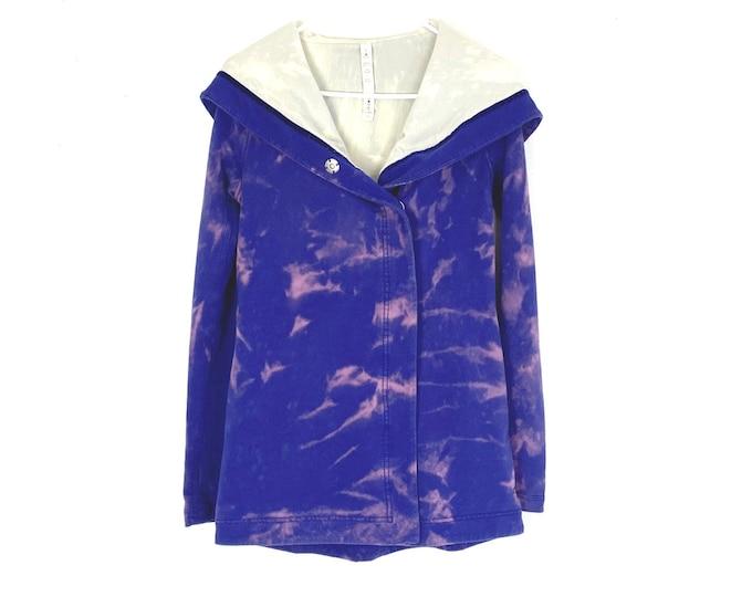 Lululemon Custom Upcycled Awareness Wrap Ombre Lined Hooded Sweatshirt Jacket (Recycled)