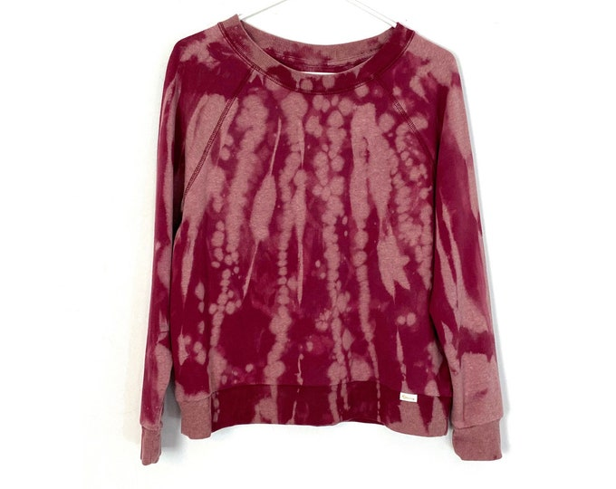 Custom Tie Dyed & Bleached Pullover Crewneck Womens Sweatshirt (Recycled)