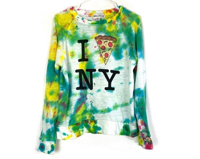 WILDFOX Distressed & Custom Tie Dyed I Pizza NY