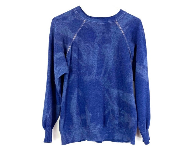 Vintage Wrangler Custom Bleached Blue Upcycled Pullover Sweatshirt (Recycled)