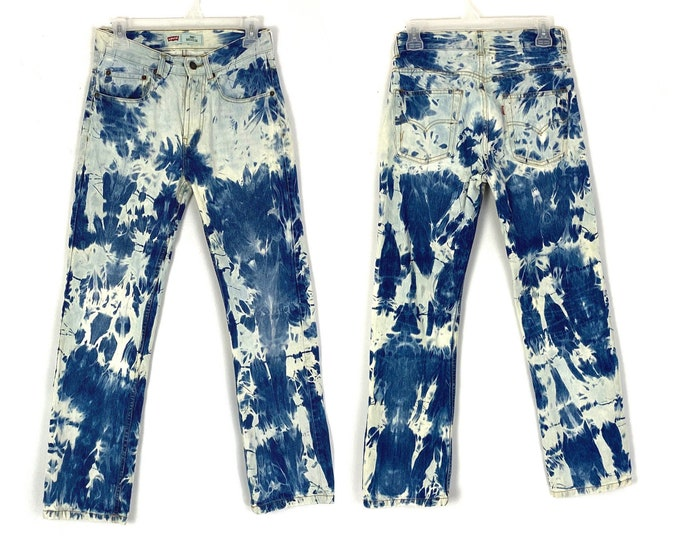 Levi's 505 Custom Bleached Vintage Inspired Remade Jeans