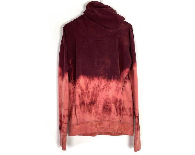 Lululemon Upcycled Stress Less Hoodie Long Sleeve Custom Bleached Oversized Sweatshirt Recycled Women's Size 6 Small Medium Free Shipping