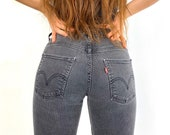 Levi 39 s Custom Ombre Bleached Faded Black 514 Slim Cropped Jeans