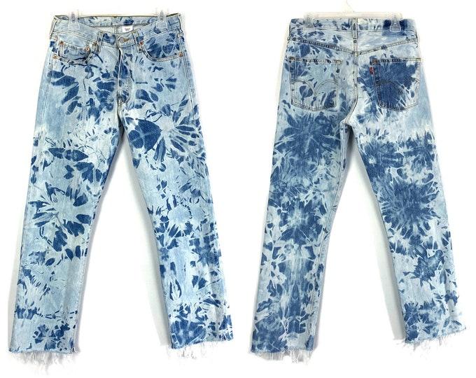 Levi's 501 Vintage Custom Bleached & Destroyed Jeans