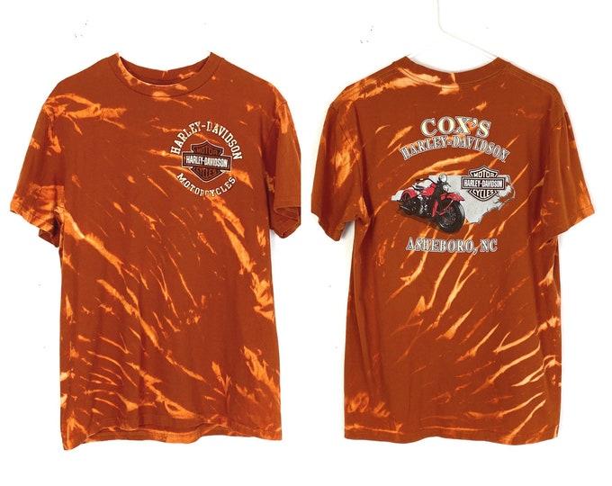 Harley Davidson Custom Upcycled Ashboro NC Motorcycle Tshirt (Recycled)