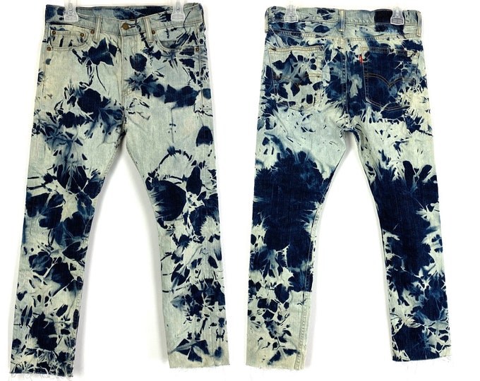 Levi's Custom 510 Bleached & Destroyed Jeans
