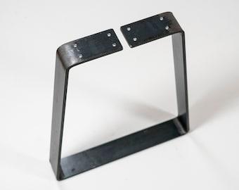 "Custom Trapezoid Table Leg 2"" wide, Rustic Steel, Sold Individually, Table Leg, End Table, DIY Farmhouse, Coffee Table Leg, Bench Leg,"