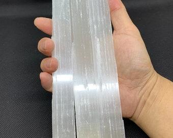Selenite Sticks 9-10 Inches Long, Natural White Crystal Selenite Wand Blades, Rough Raw Crystal Bar, Healing Crystals, Bulk Wholesale Lot