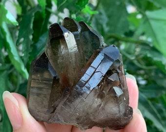 Grade A++ Smoky Quartz Cluster, 1.5-3.5 Inch Smoky Quartz Point Crystals, Meditation Healing Stone, Powerful Grounding Crystal, Pick A Size