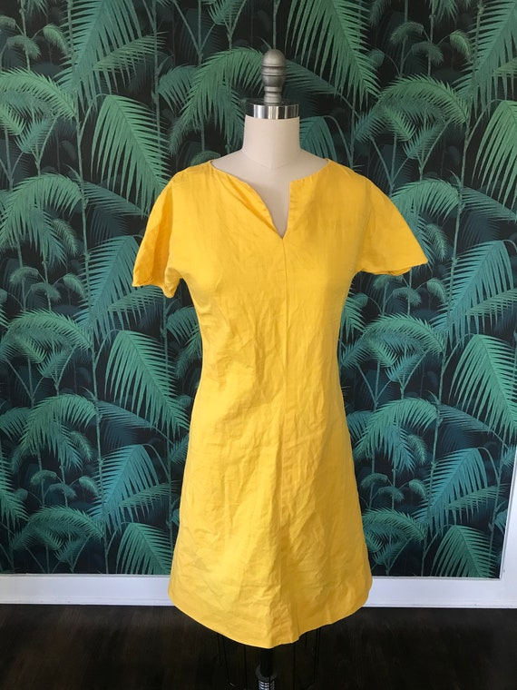 Mustard colored 1960's dress