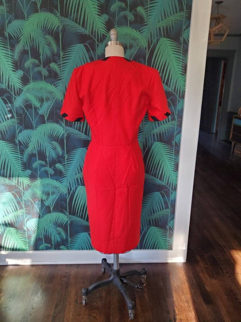 80s Nippon Boutique Red Dress