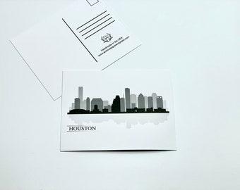 Houston Texas City Skyline Postcards - 4 Postcards