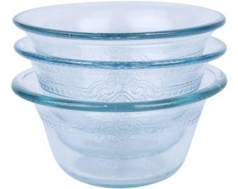 Four Vintage Fire King Custard Glass Dessert Bowls Custard Etsy