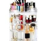 Ram Rotating Makeup Organiser 360 Degree Crystal Adjustable Cosmetic Lipstick Bottles Foundation Holders Perfume Makeup Stand