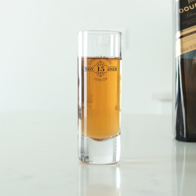24 pcs Wedding Favors Custom Wedding Favor Glasses Gift Ideas DGN216 Unique Personalized Tall Shot Glass Personalized Shot Glass