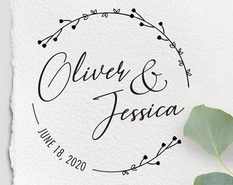 Wedding Stamp personalized 25x60 jar III