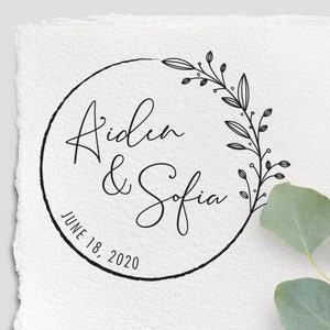 \u00d8 3cm Stamp Invitation to Wedding we/'re getting married motive rubber stamp Yes