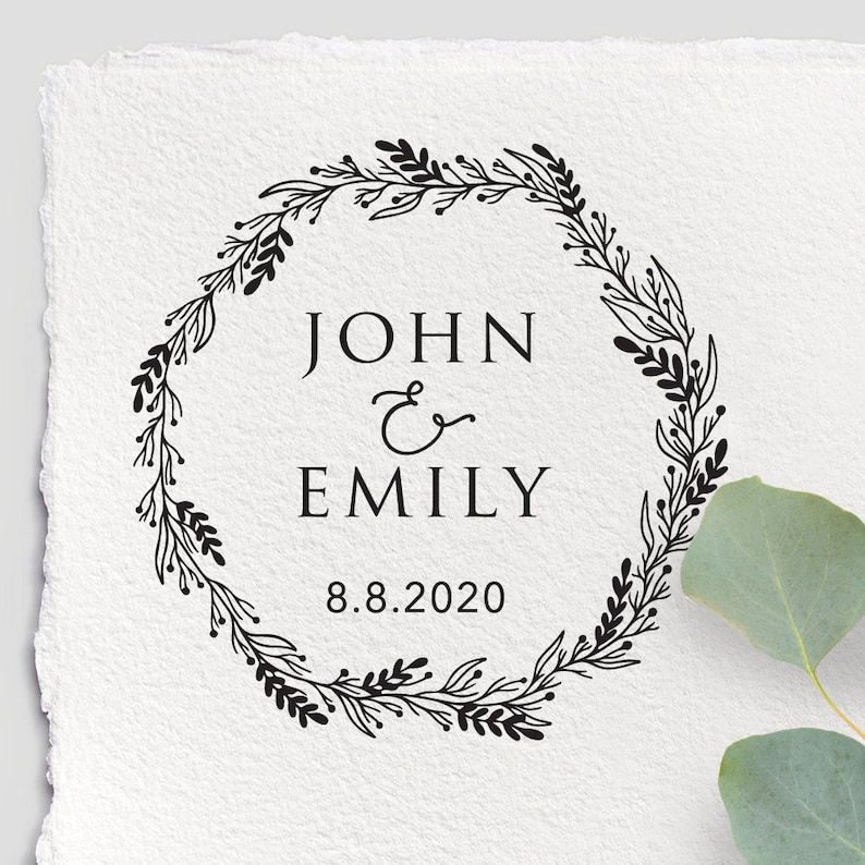 CUSTOM WEDDING STAMP Wedding Card Personalized Wedding Stamp Wedding Invitation Diy Wedding Wedding Stamp Rubber Wedding Stamp