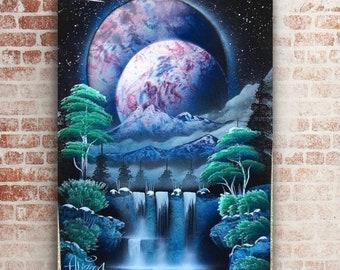 Space babe zen original painting by artist allison Lee Meixell