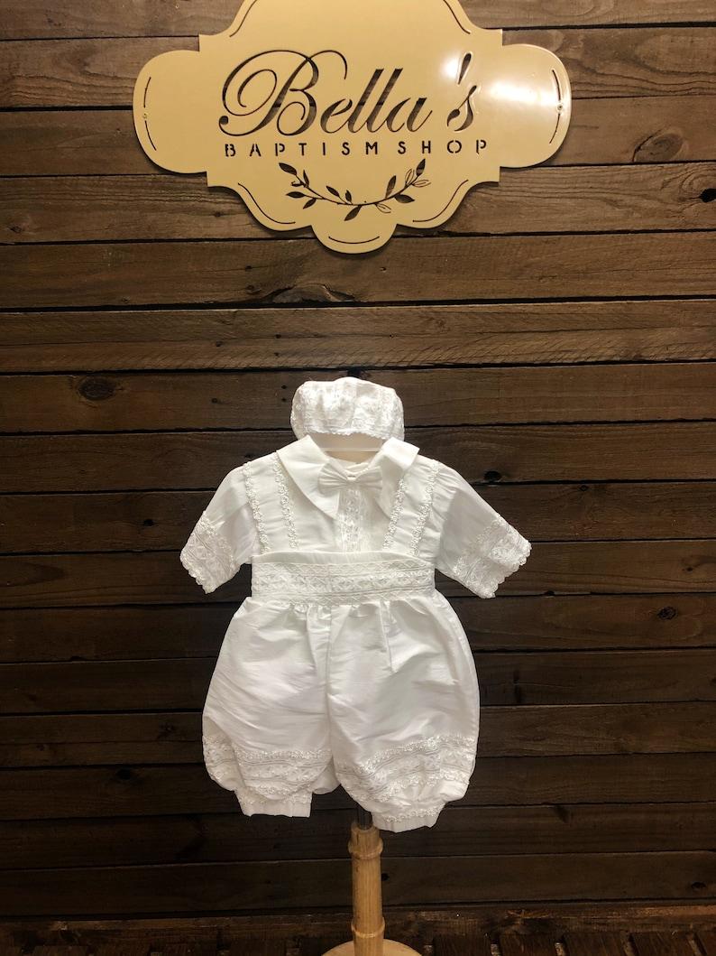 white ropon ropon de ni\u00f1o boy ropon baptism ropon ropon de bautizo para nino Christening Boy gown Baptism WHITE boy suit