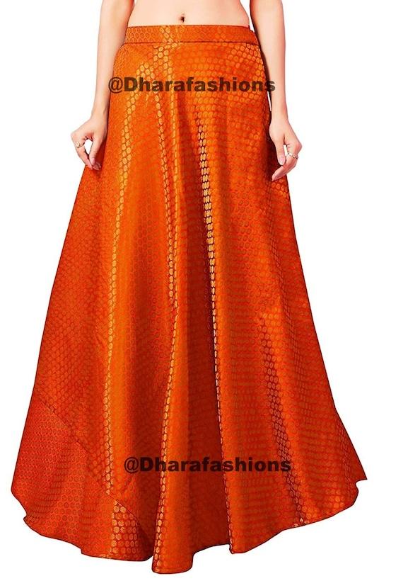 Printed Skirts Bollywood skirt Bollywood Skirt Designer Brocade Long Skirt Long Skirts,Indian Short Skirts Dance Skirts